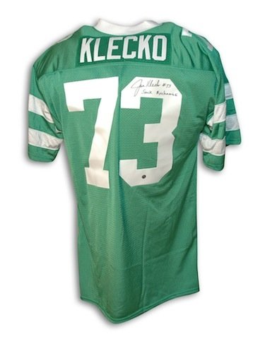 Autographed/Hand Signed Joe Klecko New York Jets Green Throwback Jersey Inscribed ''Sack Exchange'' at Amazon.com