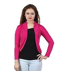 Trendy Pink Short Shrug by Bfly