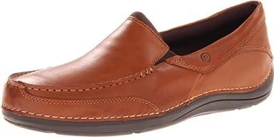 Rockport Men's Shoal Lake Balabour,Dark Tan Leather,US 7 W