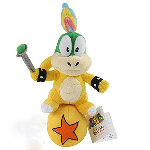 Carino koopa Super Mario Koopalings Lemmy con un giocattolo disegno palla peluche ripiena