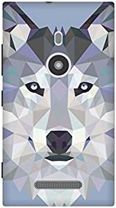 The Racoon Lean Ice Wolf Edged hard plastic printed back case / cover for Nokia Lumia 925