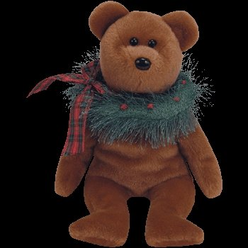 1 X TY Beanie Babies - Hollydays the Holiday Bear