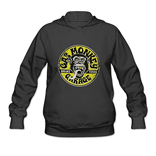 KEIKO Women's Gas Monkey Garage Richard Rawlings Hoodies M Black