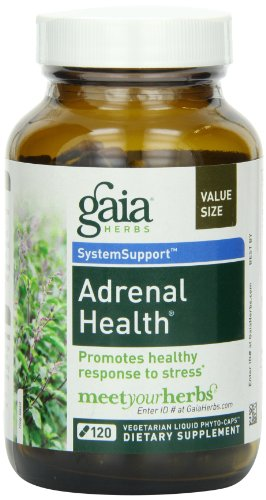 Adrenal Health Daily Support Gaia Herbs 120 VCaps