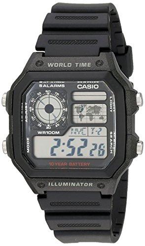 RELOJ CASIO AE1200WH-1A para hombre de hora mundial