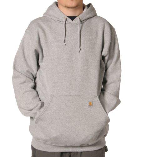 Carhartt K121 Hooded Sweatshirt Grey Mens Hoodie Top