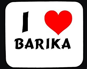 Amazon.com: I Love Barika custom mouse pad (first name/surname