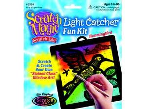 Melissa & Doug Hummingbird Light Catcher Scratch Art Kit - 1