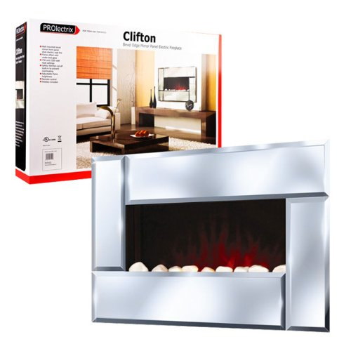 New Clifton Bevel Mirror Panel Electric Fireplace photo B00H00HAYC.jpg