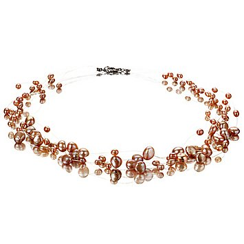 PearlsOnly Illusion Pink 4.0-7.0mm A Freshwater Cultured Pearl Necklace