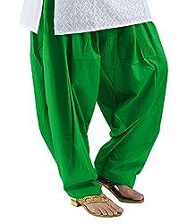 Neha Fashion Women's Regular Patiala Pant ( Green )