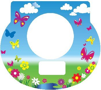 Tot Clock Faceplate: Butterflies Design - 1