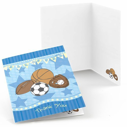 All Star Sports Thank You Cards (8 count) - 1