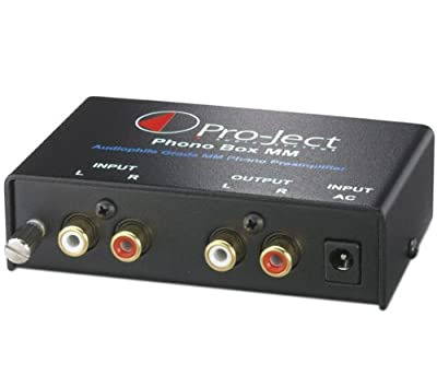 Pro-Ject Audio - Phono Box MM - MM Phono Pre-amplifier - Black from Pro-Ject Audio