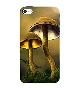 Snapdilla Animated Clipart Artistic Mushroom Pretty Cool 3D Smartphone Case for Apple iPhone 4