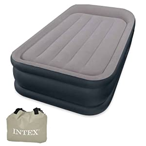 Intex  deluxe pillow rest raised air bed single size inc pump #67732