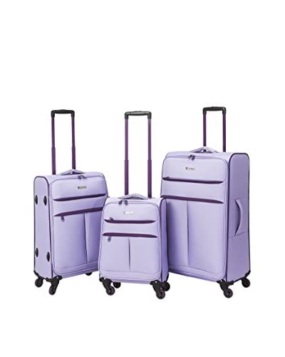 Travelers Polo And Raquet Club 3Pc Casual Luggage Set W/ 360˚ 4-Wheel System