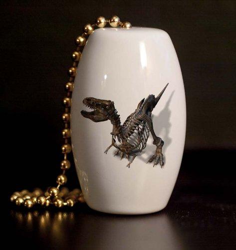 T Rex Bones Porcelain Fan / Light Pull
