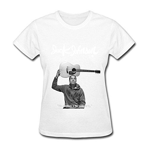KaiOu Jack Johnson Women's Cotton T-shirt L White