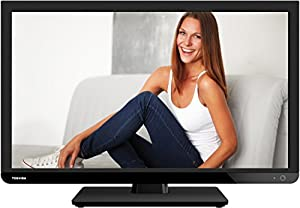Toshiba 24W1433DG Edge-LED-Backlight-Fenseher, EEK A (HD-ready, 100Hz AMR, DVB-T/-C, USB Mediaplayer) noir