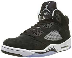 Nike Mens Air Jordan Retro 5 Oreo Basketball Shoes Black/Cool Grey/Black 136027-035 Size 8