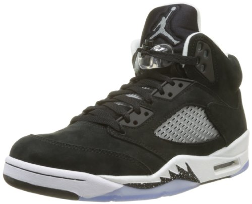 promo code ae10a e69bd Cheap Nike Mens Air Jordan Retro 5 Oreo Basketball Shoes Black Cool Grey  Black