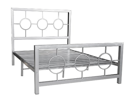 home source industries 13161 queen metal bed frame with decorative headboard and footboard. Black Bedroom Furniture Sets. Home Design Ideas