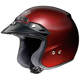 Shoei RJ Platinum-R Open Face Motorcycle Helmet Wine Red Small