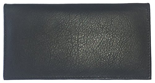 Black Basic Leather Checkbook Cover (This Register Closed compare prices)