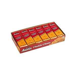 Austin® Cheese Crackers with Cheddar Cheese 6-0.93 oz ...  |Austin Cheddar Cheese