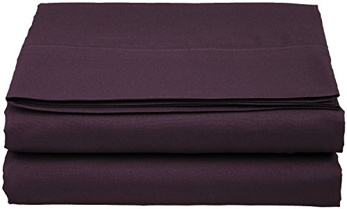 Buy Discount Clara Clark Supreme 1800 Collection Single Flat Sheet - Queen Size, Purple Eggplant