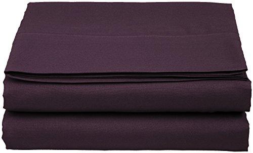 Buy Discount Clara Clark Supreme 1800 Collection Single Flat Sheet - Queen Size, Purple Eggplant