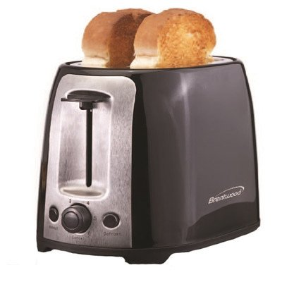 Brentwood Appliances TS-292B 2-Slice Cool Touch/Wide Slot Toaster, Black and Stainless Steel by Brentwood Appliances