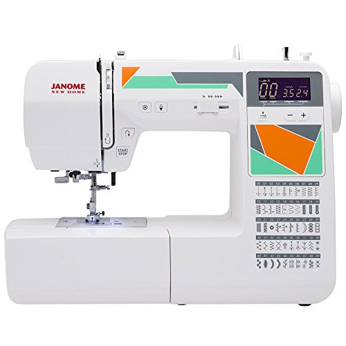 Janome MOD-50 Computerized Sewing Machine with 50 Built-In Stitches, 3 One-Step Buttonholes, Drop Feed and Accessories (Janome Dc 1050 compare prices)