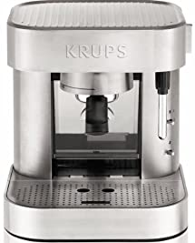 KRUPS XP601050 Pump Espresso Machine with Thermo Block System and Stainless Steel Housing, Silver