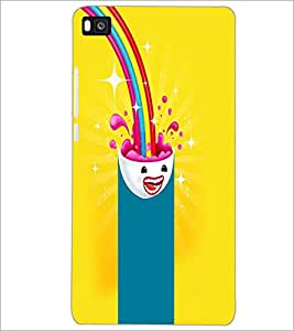 PrintDhaba Cartoon D-4046 Back Case Cover for HUAWEI P8 (Multi-Coloured)