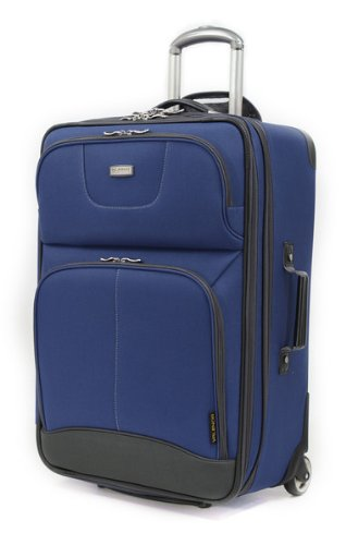 Ricardo Beverly Hills Luggage Valencia Lite 25-Inch 2 Wheeled 2-Compartment Upright, Navy, One Size front-585704