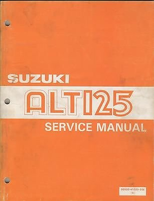 1983 Suzuki Four Wheeler Atv Alt125 P/N 99500-41020-03E Service Manual (315) front-996186