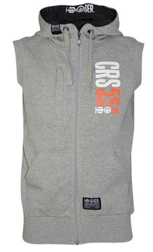Mens Crosshatch Branded Sleeveless Hoody Body Warmer Gilet M L XL Blue Grey