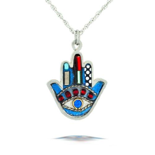 Petite Blue Hamsa Necklace from the Artazia Collection #624 JN MN