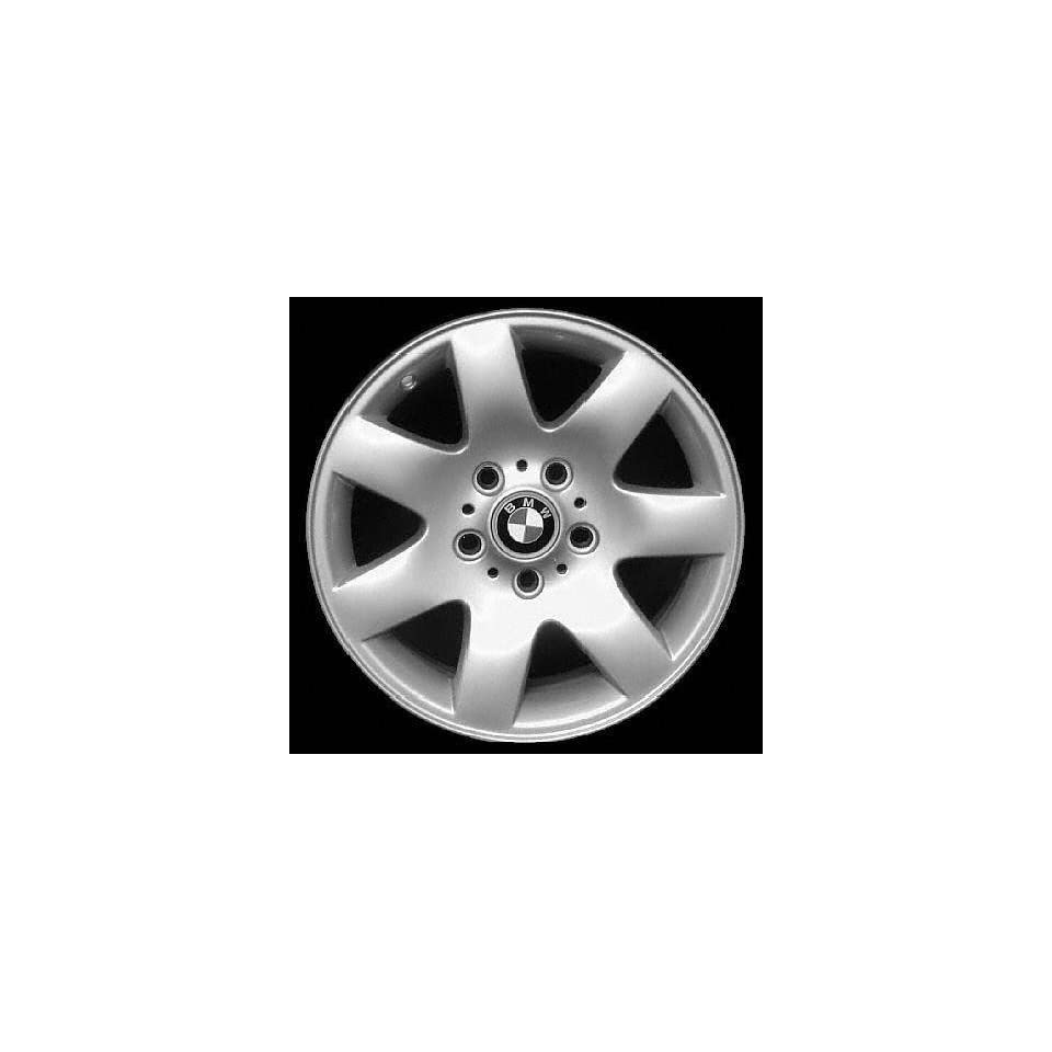 01 02 BMW 325I 325 i ALLOY WHEEL RIM 16 INCH, Diameter 16, Width 7 (7 SPOKE, 4DR, STYLE #45), 47mm offset #45 Star spoke design, SILVER, 1 Piece Only, Remanufactured (2001 01 2002 02) ALY59289U10