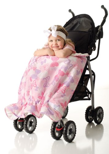 Bumkins Waterproof Stroller Blanket, Butterfly