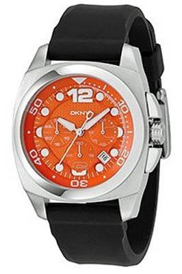 DKNY NY1446 Mens Chronograph Orange Black Watch