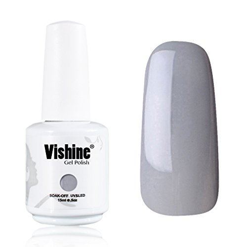 Vishine-Gelpolish-Professional-UV-LED-Soak-Off-Varnish-Color-Gel-Nail-Polish-Manicure-Salon-Grey1441