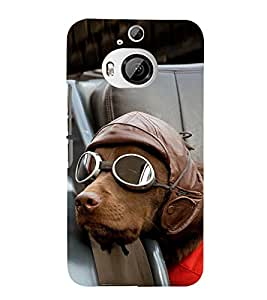 Vizagbeats Dog with goggles Back Case Cover for HTC One M9+::HTC One M9 Plus