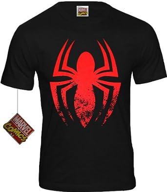 original Marvel Comics SPIDER MAN LOGO Herren T-Shirt schwarz Gr. S-XL (S)