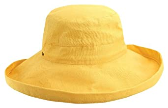 Scala Women's Cotton Big Brim Hat, Banana, One Size