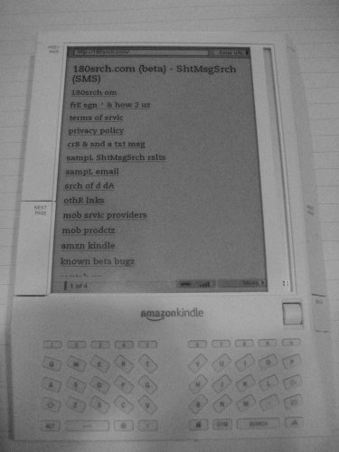Text Message from your Kindle, plus using 180srch.com