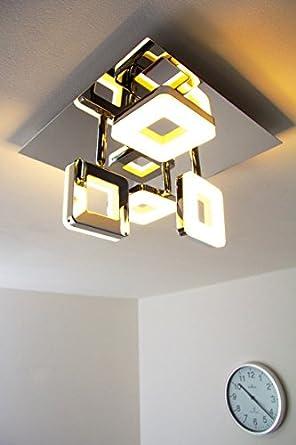 led deckenspot turin eckig 4 x 6 watt 2000 lumen 3000 kelvin warmweiss de18. Black Bedroom Furniture Sets. Home Design Ideas