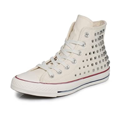 Buy Converse Chuck Taylor Collar Studs Hi White Trainers by Converse